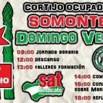 Continua Apoyando a Somonte. Bonos de Apoyo, Concentración el día 15, Domingo Verde día 17