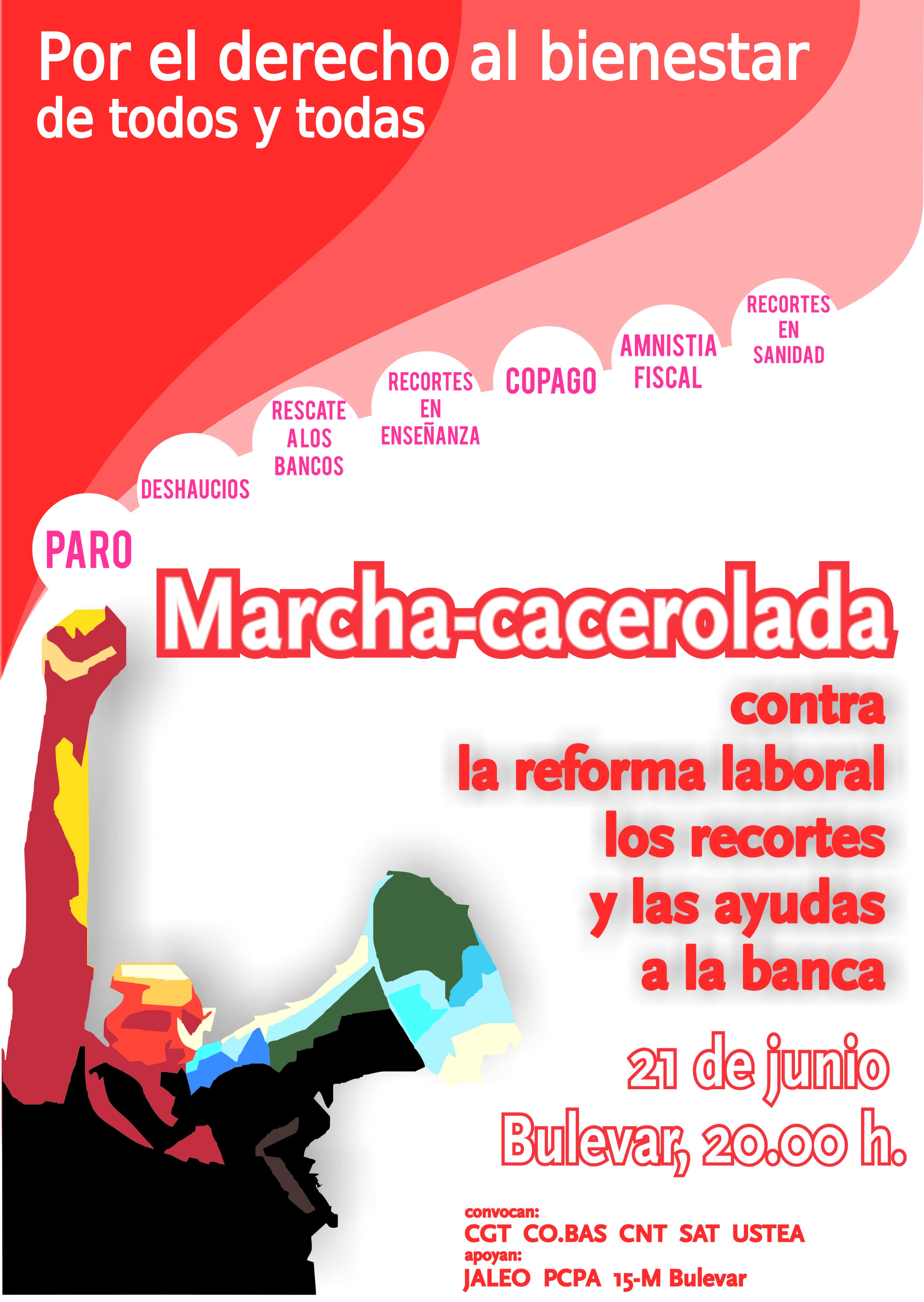Jueves 21 Marcha/Cacerolada Por el Derecho al Binestar de Todas y Todos