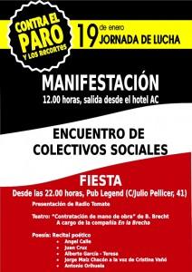 cartel jornada lucha 19 enero 2013